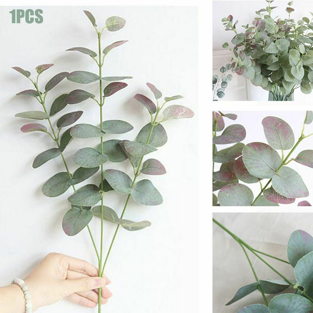 Artificial Fake Leaf Eucalyptus Green Plant Silk Flowers Nordic Home Decor Fake Plants For Home Shop Garden Party Wall Decor