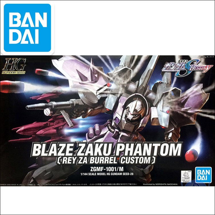 Original Gundam HG 1/144 Model BLAZE ZAKU PHANTOM WARRIOR Mobile Suit GUNDAM SEED DESTINY Kids Toys