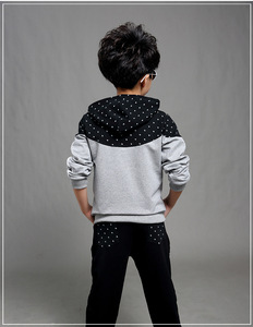 Image 5 - Boys Clothes Set Kids Spring Autumn Jogging Tracksuits Baby Boys Hooded Jackets+Pants Sports Suit Children Clothing Set 120~160