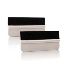 5pcs/Lot Car Application Tools Soft Flexible White Felt Squeegee Vinyl Wrap Squeegee Scraper Car Wrapping Vinyl