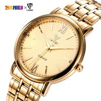 New Arrival Simple Men Quartz Watch Golden Steel Strap 3Bar Waterproof Male Wristwatches relogio masculino Dropshipping L1014|Quartz Watches| |  -