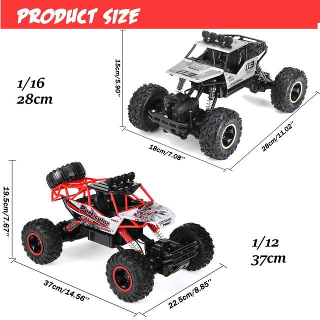 1:12 4WD RC Car Updated Version 2.4G Radio Control RC Car Toys remote control car Trucks Off-Road Trucks boys Toys for Children 4