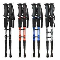 2 Pcs/lot Telescopic Nordic Walking Poles Anti Shock Trekking Poles Adjustable Outdoor Climbing Hiking Walking Aluminum Sticks