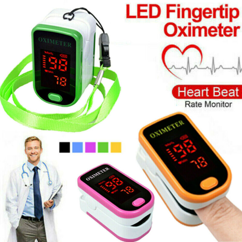 Portable Fingertip Oximeter Monitor Blood Oxygen Saturation Pulsoximeter Heart Rate Pulse Oximeter