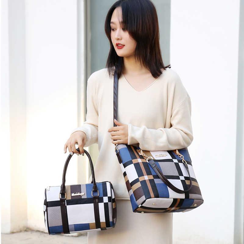 MIWIND Frauen Umhängetaschen 2020 Neue PU Leder Taschen Handtaschen 6-stück Set Funktionale Tragbare Große Kapazität Tragen-beständig