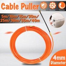 4 мм 5 м до 40 м оранжевый направляющее устройство нейлон электрический кабель толкатели канал змея роддер рыба клейкие ленты провода