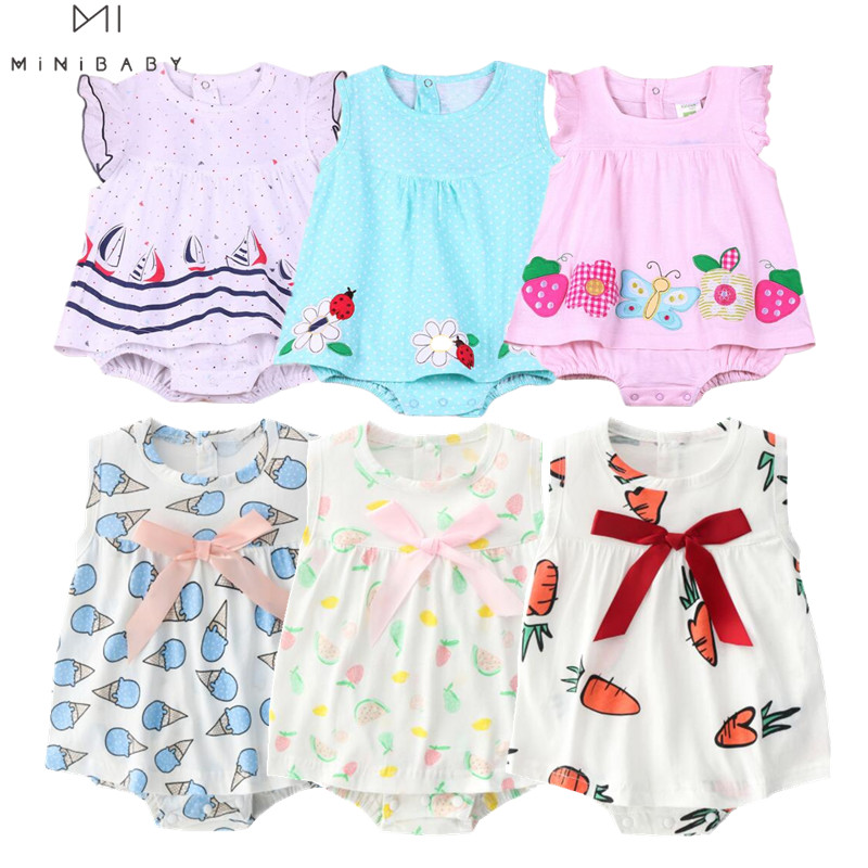 2020 Baby Rompers Summer Baby Girls Clothing Sets Cute Newborn Baby Clothes Toddler Baby Girl Clothes Roupa Infant Jumpsuits