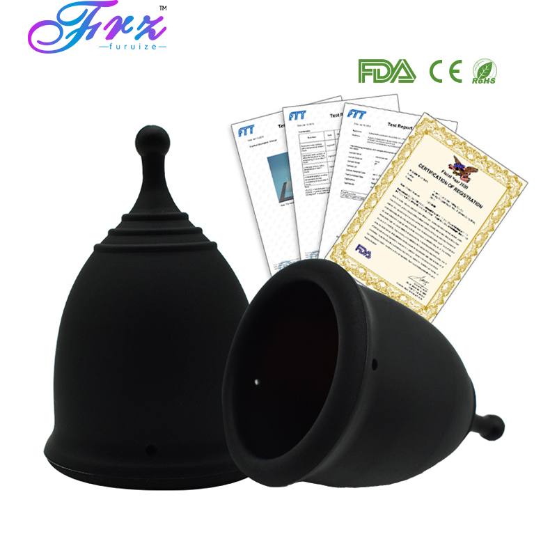 Black Color Menstrual Cup For Women Feminine Hygiene Medical 100% Silicone Cup Menstrual Reusable Lady Cup Copa Menstrual