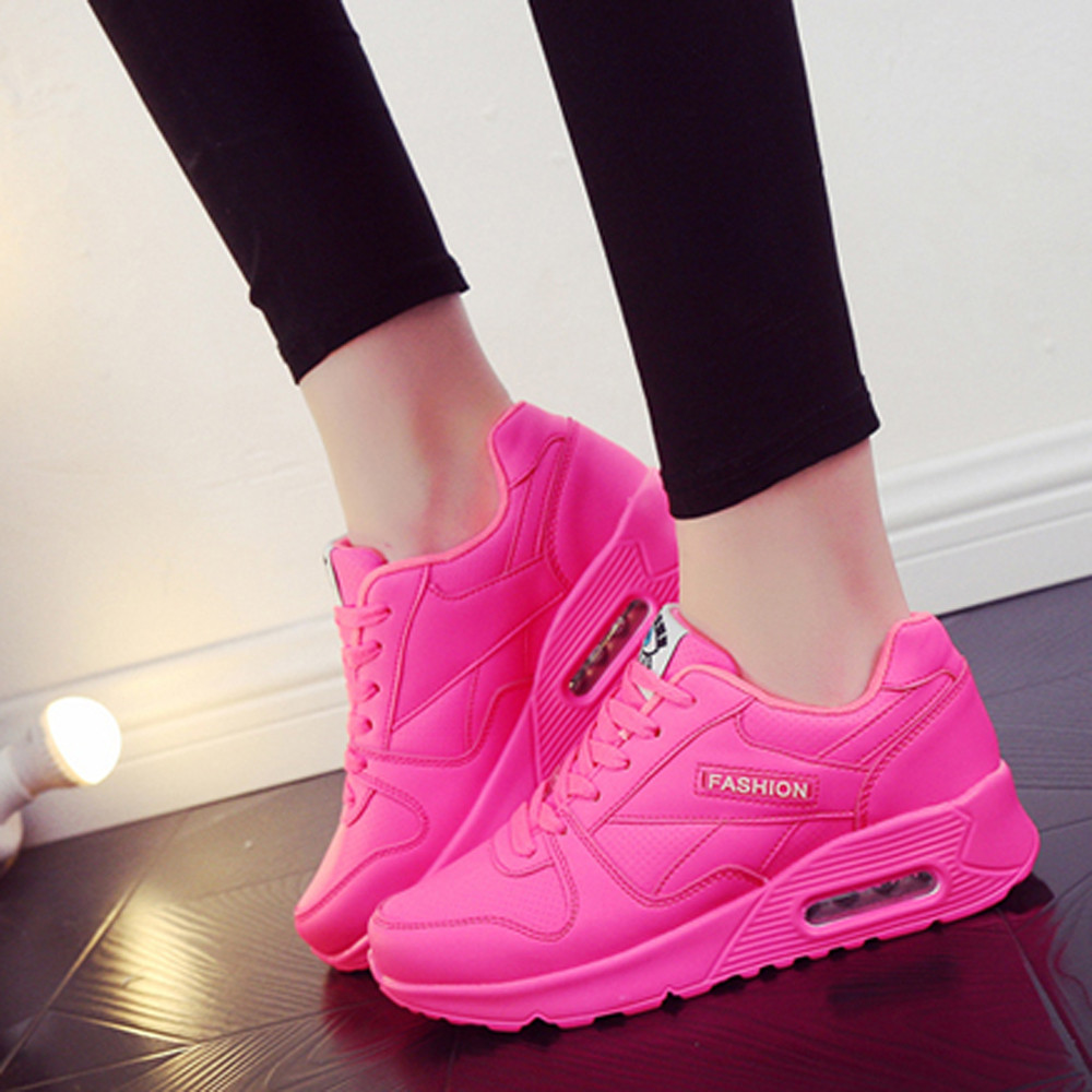 Women's Chunky Sneakers 2020 Fashion Women Platform Lace Up Pink Vulcanize Shoes Womens Female Trainers Dad Shoes June11