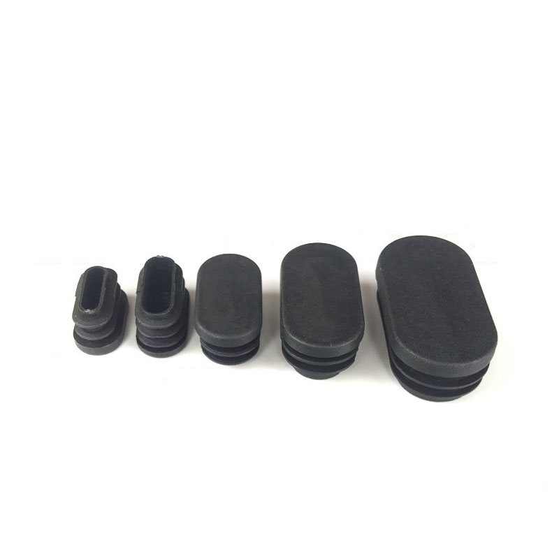4PCS Black Oval Plastic Blanking End Cap Tube Plug Inserts Pipe Box Chair Desk Furniture Noise Proctor Mat Covers Accessories