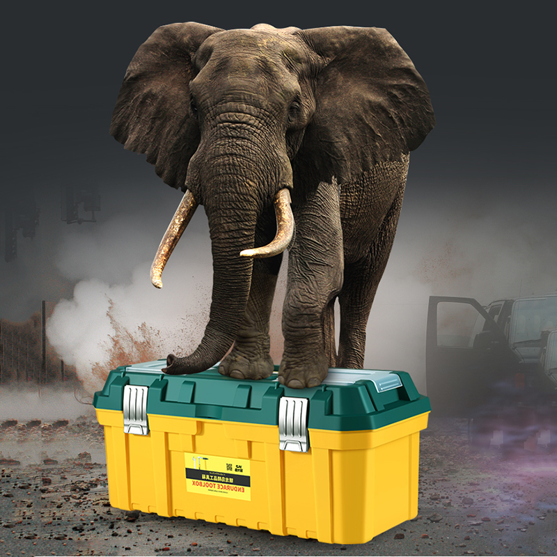 14 18inch Large Toolbox Household Maintenance Electrician Tool Box  Multifunction Car Repair Box Tool Container Storage Case