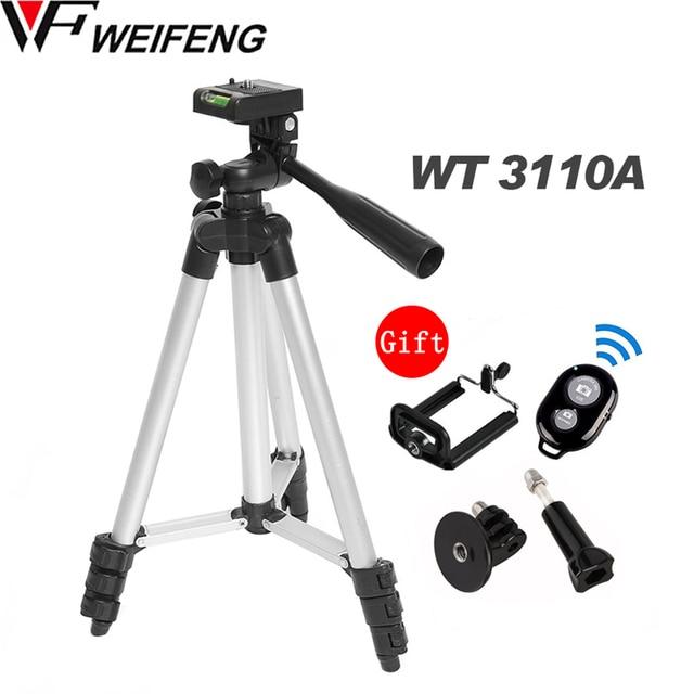WF 3110A Tripod With 3 Way HeadTripod for Nikon D7100 D90 D3100 DSLR Sony NEX 5N A7S Canon 650D 70D 600D GoPro Hero 4 3+/3/2/1