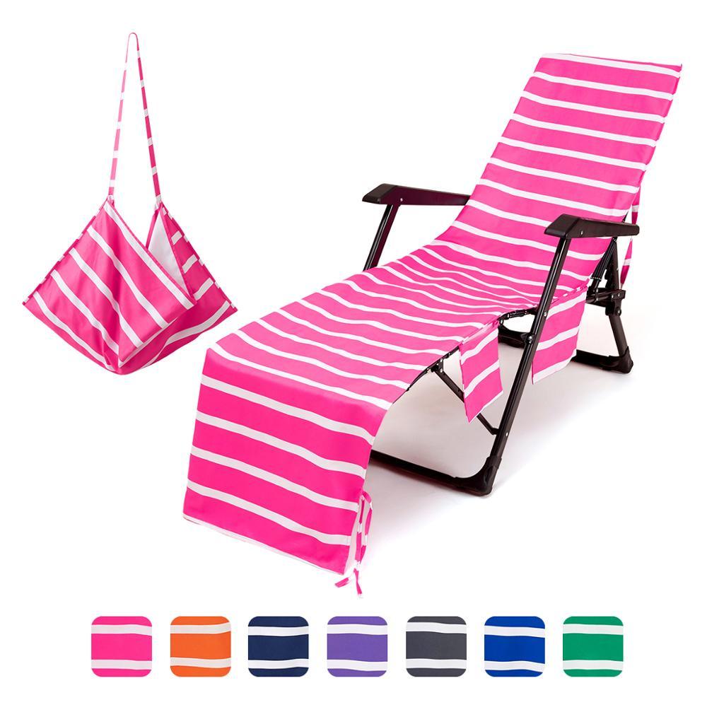 Beach Towels Portable Beach Pool Sun Lounge Chair Cover Bath Towel Bag 3 Pocket Patio Chaise Lounge Chair Covers Outdoor Aliexpress