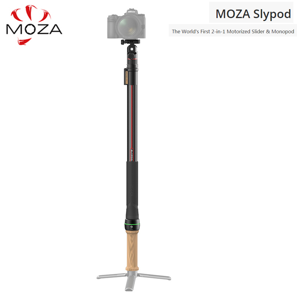 Moza slypod 2 em 1 motorizado slider & monopé para dslr câmera stabilzer cardan aircross 2 ar 2 dji ronins sc zhiyun weebill s