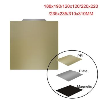 3D принтер запчасти удаление пружина стальной лист пластина PEI гибкий магнитный стикер с подогревом кровать 180/120/220/235/310 мм Ender3 CR10 Горячая кро...
