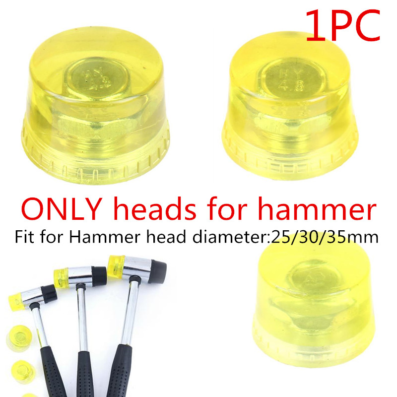 Double Face Soft Touch Hammer Head Plastic Coated Grip Double Head Rubber Hammer Handheld Tool Leather DIY Tool 25/30/35mm