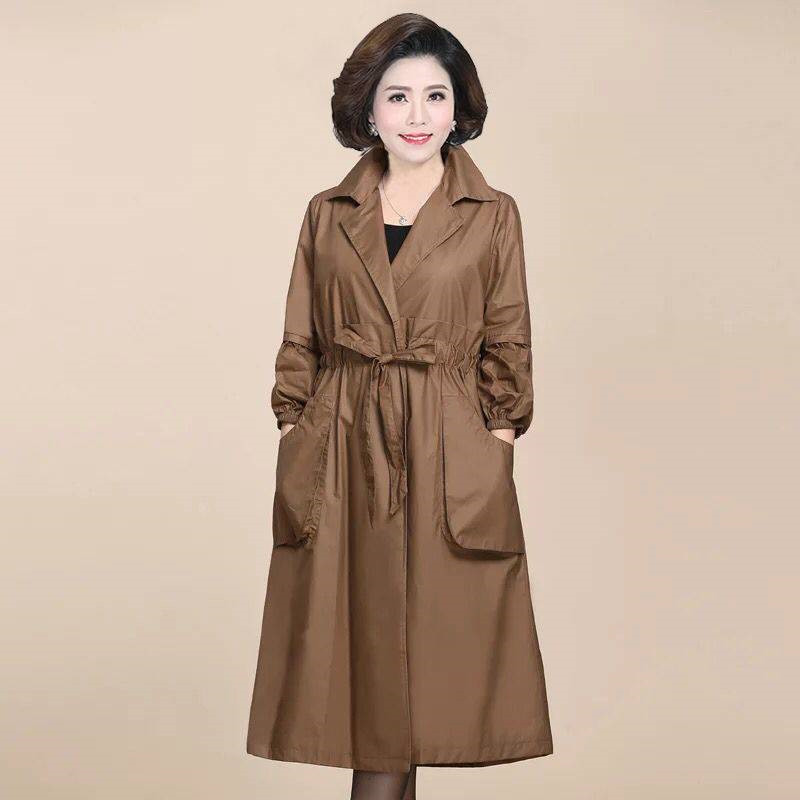 2020 Spring Autumn Classic Long Trench Coat Women Casual Windbreaker Female Overcoat Black Slim Outwear Casaco Feminino Coats