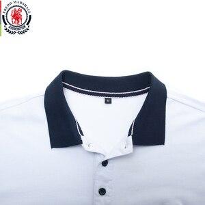 Image 3 - Fredd Polo Marshall 2020 para hombre, camiseta informal de negocios de manga corta, Polo de hombre, polos a rayas de moda 502