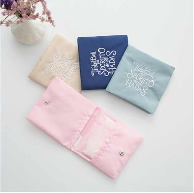 1PC Women Cute Sanitary Pad Organizer Purse Holder Napkin Towel Storage Bags Girl Sanitary Napkin Bag Pouch Case