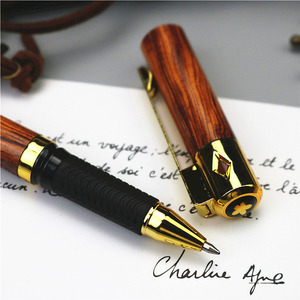 Image 3 - Wood grain 0.5mm gel pen plastic pen rubber slip grip School office writing gift supplies