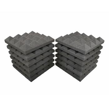 12 sztuk 25x25x5cm studyjna pianka akustyczna dźwiękoszczelne piramidy pochłaniania dźwięku leczenie Panel płytki gąbka ochronna tanie i dobre opinie NONE CN (pochodzenie) 12Pcs Taśmy uszczelniające Sponge ordinary