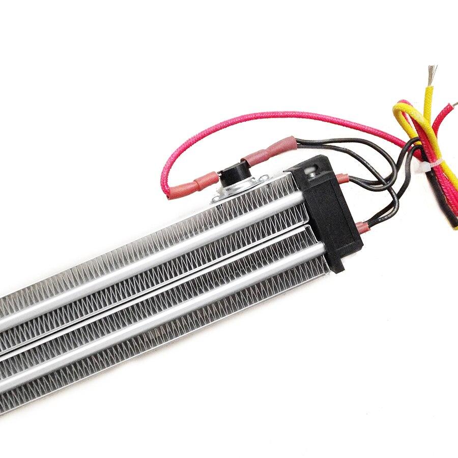 1000 Вт ACDC 110 В 2 Ряд изолированный PTC керамический нагреватель воздуха 230*50*26 мм