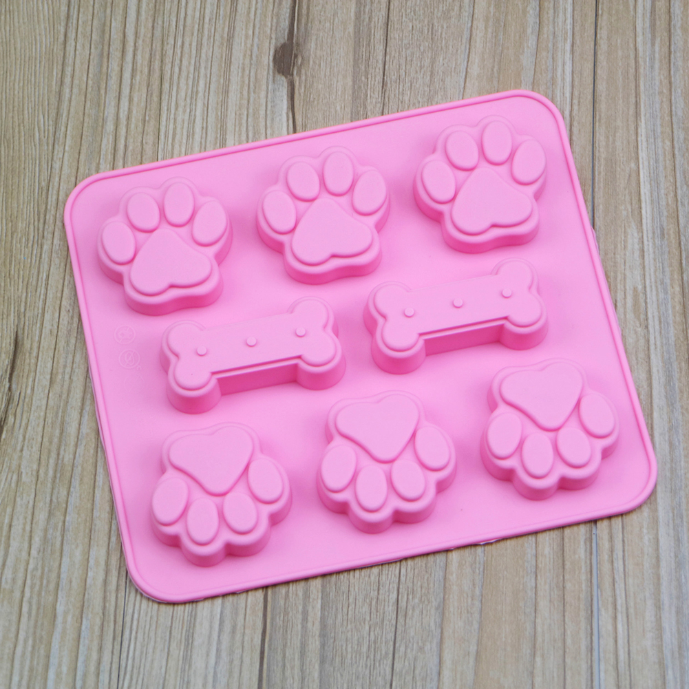 Silicone Cake Mold Cute Dog Cat Paw Bone Shape Chocolate Candy Cookie Baking Kitchen Handmade 3D DIY Art Cakes Moulds Tool in Cake Molds from Home Garden