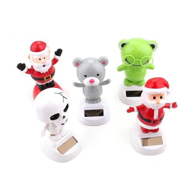 Hot Novelty Solar Toys Adorable Solar Powered Dancing Panda Santa Claus Animal Toy For Home Desk Car Decoration Kids Toys Gift 5