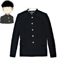 Mob Psycho Disfraz Cosplay de Mobu Saiko Hyaku Kageyama Shigeo, traje negro Gakuran, pantalones, S 4XL, 100