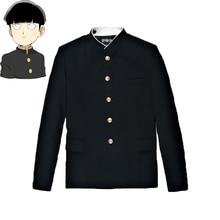 Mob psycho 100 mobu saiko hyaku kageyama shigeo cosplay traje preto gakuran ternos calças S 4XL