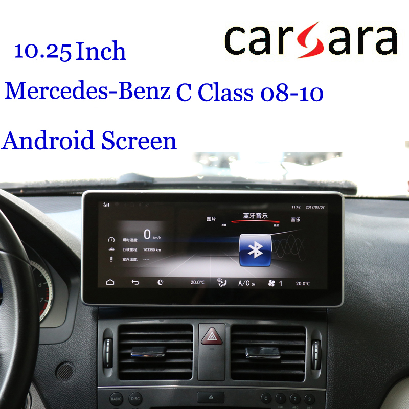 <font><b>Android</b></font> Dashboard Radio for Merce des Ben z C Class <font><b>W204</b></font> 07-10 Replacement Tablet <font><b>Navigator</b></font> 10.25