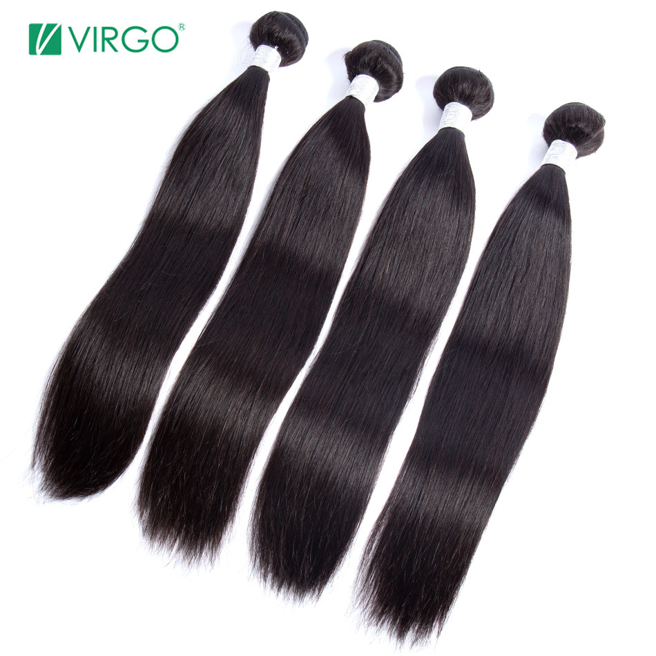 H834a42dd59114ec0b930738305b1f3b0o Peruvian Straight Hair Bundle with closure 3 bundle human hair weave Virgo Hair lace frontal closure with bundles 4 pcs remy