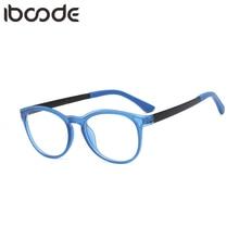 Iboode квадратный голубой свет дети Классическая оправа мальчик девочек компьютер прозрачный Блокировка Анти отражающие очки УФ