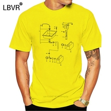 Vanagon Technical Drawing print t-shirt Leisure T-Shirt Hipsters High Quality