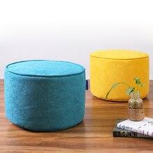 На заказ Сверхлегкий скандинавский винтажный домашний табурет для ног Османская круговая скамейка для детей стул для гостиной маленький чайный столик диван