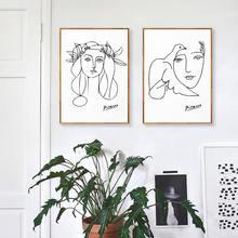 Постер «Пикассо» Картина на холсте скандинавский настенный художественный