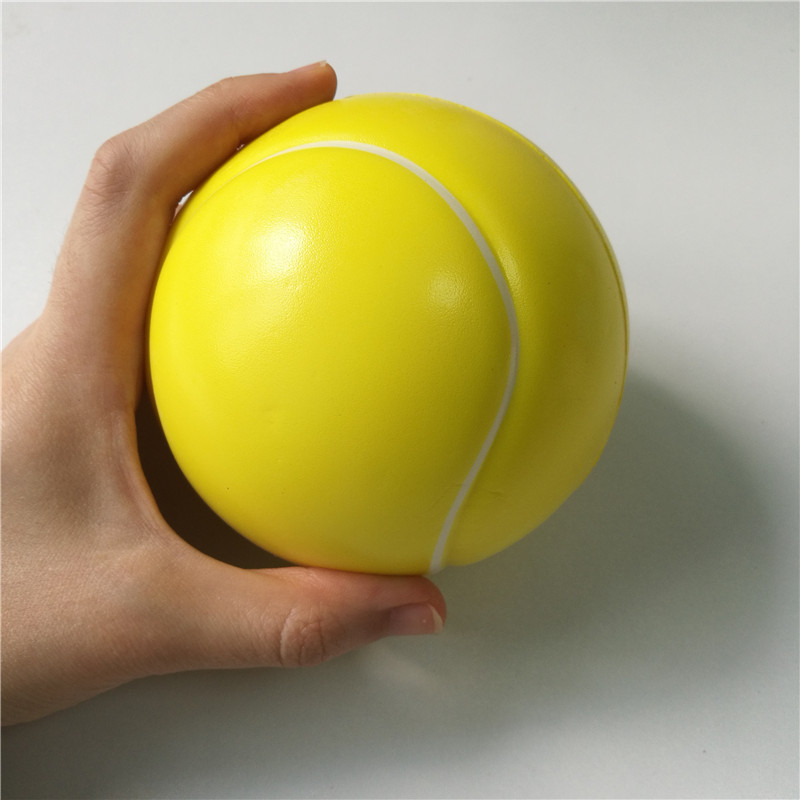 Toys Tennis Stress Ball Soft Foam Rubber Balls Squeeze Squishy Stress Relif Toys For Kids Children 6.3cm/10cm