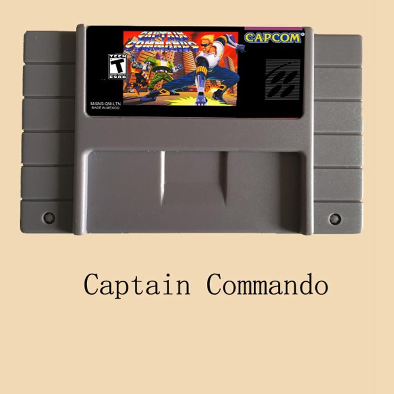 Wysokiej jakości 16 Bit kapitan komandosów NTSC duży szary gra karciana dla USA wersja odtwarzacz gier