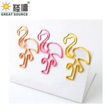 40 мм зажим для бумаги в форме Фламинго цветной металлический