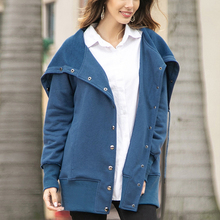 Buy Solid Color Button Coat Cardigan Women Long Sleeve Coat Maternity Wear Hoodie for Girl Pregnant Woman Coat directly from merchant!