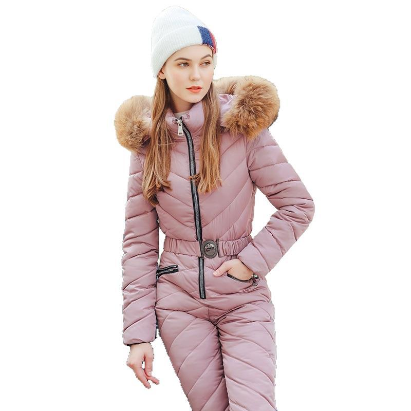 Winter Ski Suit Women High Quality Hooded Ski Jacket +Pants Snow Warm Windproof Skiing Clothes Snowboarding Female Ski Suits