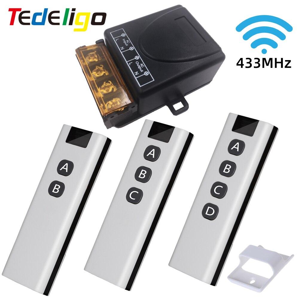Interrupteur intelligent relais rf 433mhz, télécommande sans fil, émetteur OnOff AC 220V 30a pour ventilateur d'extraction, chauffe-eau et Led
