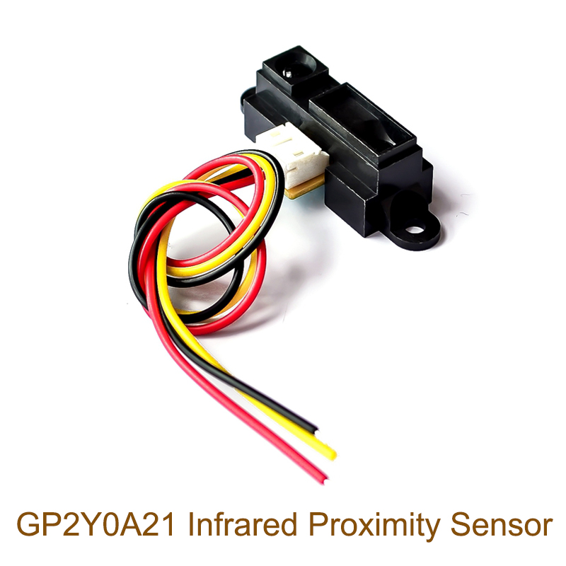 GP2Y0A21YK0F 2Y0A21 Infrared Distance Measuring Sensor GP2D12 Distance Detection 10-80cm With Line