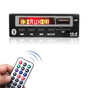 Kebidu novo bluetooth5.0 carro mp3 wma wav decodificador tela colorida 5v 12v módulo de áudio sem fio usb tf fm rádio mp3 player