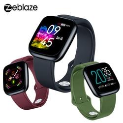 Zeblaze Crystal 3 Smart Horloge Mannen Hr Monitor Alle Dag Activiteit Tracking 3D Dynamische Ui Polsband Screen Smartwatch Voor android Ios