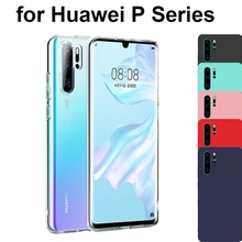 Matte Clear Soft Silicone TPU Case For Huawei P30 Pro P20 Lite 2019 P10 P9 Plus P8 Lite 2017 P Smart Plus 2019 Z Cover Red Black snack silicone soft case for huawei p8 p9 p10 p20 p30 lite pro p smart z plus