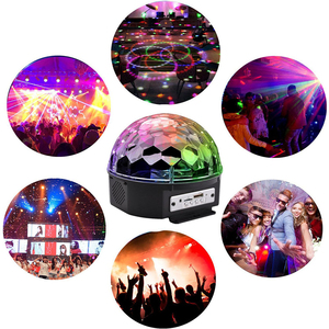 Image 5 - 9 Color RGB LED Disco Ball Light with Bluetooth MP3 Music Player for Home Party DJ Dance Floor Strobe Stage Laser Projector Lamp