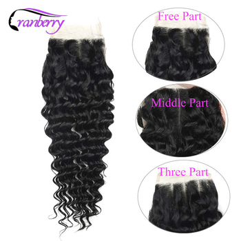 Cranberry Hair Deep Wave Hair Closure 100% Remy Human Hair Swiss Lace Closure Brazilian Human Hair Closure Free Shipping