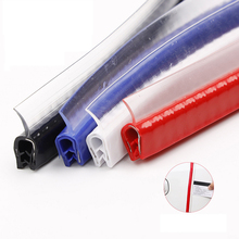 5M Auto Styling Deur Rand Scratch Protector Stickers Rubber Afdichting Strip Trim Anti Botsing Met Stalen Bekleding Auto accessoires
