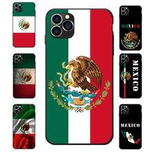 Bandeira Nacional de México Escudo de Armas tema suave TPU fundas de teléfono Para iPhone 6 7 8 S XR X Mais 11 Pro Max